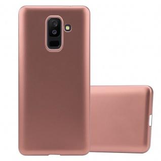 Cadorabo Hülle für Samsung Galaxy A6 PLUS 2018 in METALLIC ROSÉ GOLD Handyhülle aus flexiblem TPU Silikon Silikonhülle Schutzhülle Ultra Slim Soft Back Cover Case Bumper