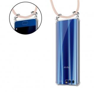 Cadorabo Handy Kette für Honor 9 in PERLIG ROSÉGOLD Silikon Necklace Umhänge Hülle mit Silber Ringen, Kordel Band Schnur und abnehmbarem Etui Schutzhülle - Vorschau 5