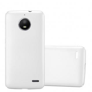 Cadorabo Hülle für Motorola MOTO E4 in METALL SILBER - Hardcase Handyhülle aus Plastik gegen Kratzer und Stöße - Schutzhülle Bumper Ultra Slim Back Case Hard Cover