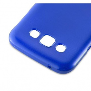 Cadorabo Hülle für Samsung Galaxy E5 2015 in BLAU - Handyhülle aus flexiblem TPU Silikon - Silikonhülle Schutzhülle Ultra Slim Soft Back Cover Case Bumper - Vorschau 4