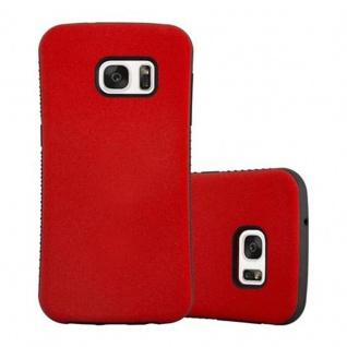 Cadorabo Hülle für Samsung Galaxy S7 - Hülle in FLAMMEN ROT - Small Waist Handyhülle mit rutschfestem Gummi-Rücken - Hard Case TPU Silikon Schutzhülle