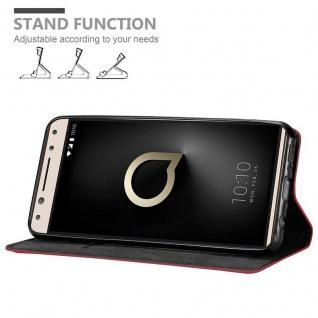 Cadorabo Hülle für Alcatel 5 in APFEL ROT Handyhülle mit Magnetverschluss, Standfunktion und Kartenfach Case Cover Schutzhülle Etui Tasche Book Klapp Style - Vorschau 2