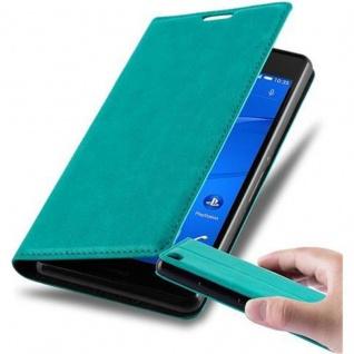 Cadorabo Hülle für Sony Xperia Z3 in PETROL TÜRKIS - Handyhülle mit Magnetverschluss, Standfunktion und Kartenfach - Case Cover Schutzhülle Etui Tasche Book Klapp Style