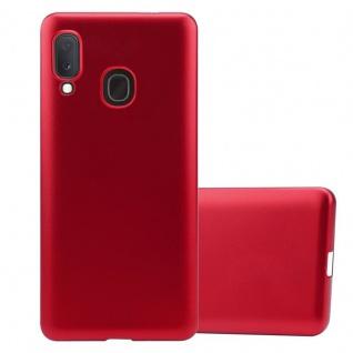 Cadorabo Hülle für Samsung Galaxy A20e in METALLIC ROT - Handyhülle aus flexiblem TPU Silikon - Silikonhülle Schutzhülle Ultra Slim Soft Back Cover Case Bumper