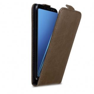 Cadorabo Hülle für Samsung Galaxy A8 2018 in KAFFEE BRAUN Handyhülle im Flip Design mit Magnetverschluss Case Cover Schutzhülle Etui Tasche Book Klapp Style