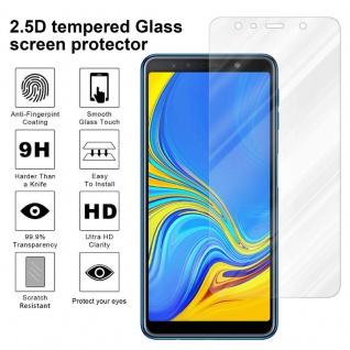 Cadorabo Panzer Folie für Samsung Galaxy A7 2018 - Schutzfolie in KRISTALL KLAR - Gehärtetes (Tempered) Display-Schutzglas in 9H Härte mit 3D Touch Kompatibilität - Vorschau 4