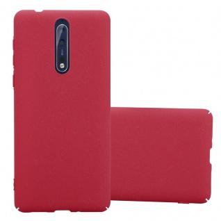 Cadorabo Hülle für Nokia 8 2017 in FROSTY ROT - Hardcase Handyhülle aus Plastik gegen Kratzer und Stöße - Schutzhülle Bumper Ultra Slim Back Case Hard Cover