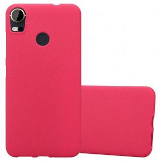 Cadorabo Hülle für HTC Desire 10 PRO in FROST ROT - Handyhülle aus flexiblem TPU Silikon - Silikonhülle Schutzhülle Ultra Slim Soft Back Cover Case Bumper