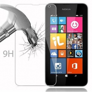 Cadorabo Panzer Folie für Nokia Lumia 540 - Schutzfolie in KRISTALL KLAR - Gehärtetes (Tempered) Display-Schutzglas in 9H Härte mit 3D Touch Kompatibilität - Vorschau 3
