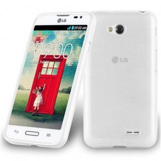 Cadorabo Hülle für LG L70 (1.SIM) in SILBER - Handyhülle aus flexiblem TPU Silikon - Silikonhülle Schutzhülle Ultra Slim Soft Back Cover Case Bumper