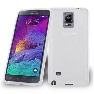 Cadorabo Hülle für Samsung Galaxy NOTE 4 in HALB TRANSPARENT ? Handyhülle aus flexiblem TPU Silikon ? Silikonhülle Schutzhülle Ultra Slim Soft Back Cover Case Bumper - Vorschau 3