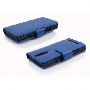 Cadorabo Hülle für Sony Xperia S in KÖNIGS BLAU - Handyhülle aus strukturiertem Kunstleder mit Standfunktion und Kartenfach - Case Cover Schutzhülle Etui Tasche Book Klapp Style - Vorschau 3