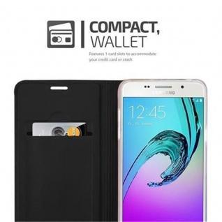 Cadorabo Hülle für Samsung Galaxy A3 2016 in CLASSY SCHWARZ - Handyhülle mit Magnetverschluss, Standfunktion und Kartenfach - Case Cover Schutzhülle Etui Tasche Book Klapp Style - Vorschau 3