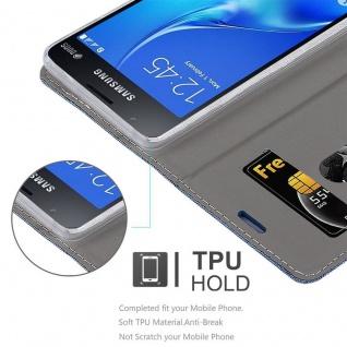Cadorabo Hülle für Samsung Galaxy J1 MINI 2016 in DUNKEL BLAU SCHWARZ - Handyhülle mit Magnetverschluss, Standfunktion und Kartenfach - Case Cover Schutzhülle Etui Tasche Book Klapp Style - Vorschau 2