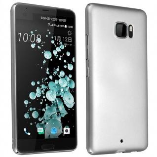 Cadorabo Hülle für HTC U ULTRA in METALL SILBER - Hardcase Handyhülle aus Plastik gegen Kratzer und Stöße - Schutzhülle Bumper Ultra Slim Back Case Hard Cover