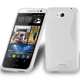 Cadorabo Hülle für HTC Desire 616 in HALB TRANSPARENT ? Handyhülle aus flexiblem TPU Silikon ? Silikonhülle Schutzhülle Ultra Slim Soft Back Cover Case Bumper