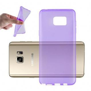 Cadorabo Hülle für Samsung Galaxy NOTE 5 in TRANSPARENT LILA - Handyhülle aus flexiblem TPU Silikon - Silikonhülle Schutzhülle Ultra Slim Soft Back Cover Case Bumper