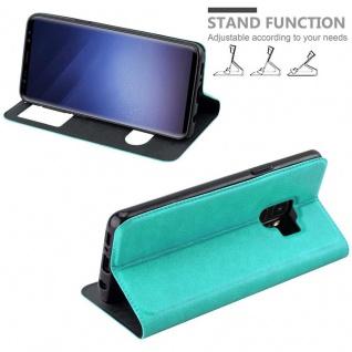 Cadorabo Hülle für Samsung Galaxy S9 in MINT TÜRKIS ? Handyhülle mit Magnetverschluss, Standfunktion und 2 Sichtfenstern ? Case Cover Schutzhülle Etui Tasche Book Klapp Style - Vorschau 4
