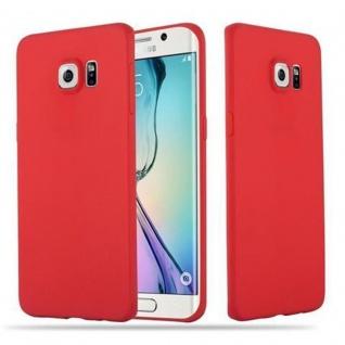 Cadorabo Hülle für Samsung Galaxy S6 EDGE PLUS - Hülle in CANDY ROT ? Handyhülle aus TPU Silikon im Candy Design - Ultra Slim Soft Backcover Case Bumper