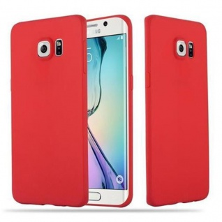 Cadorabo Hülle für Samsung Galaxy S6 EDGE PLUS in CANDY ROT - Handyhülle aus flexiblem TPU Silikon - Silikonhülle Schutzhülle Ultra Slim Soft Back Cover Case Bumper