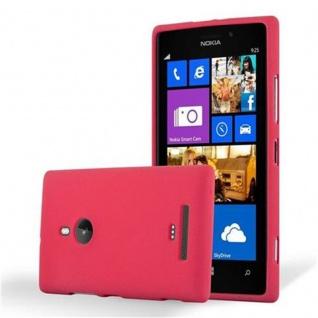 Cadorabo Hülle für Nokia Lumia 925 in FROST ROT - Handyhülle aus flexiblem TPU Silikon - Silikonhülle Schutzhülle Ultra Slim Soft Back Cover Case Bumper