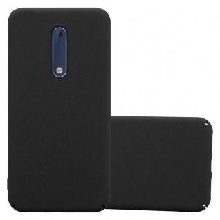 Cadorabo Hülle für Nokia 5 2017 in FROSTY SCHWARZ - Hardcase Handyhülle aus Plastik gegen Kratzer und Stöße - Schutzhülle Bumper Ultra Slim Back Case Hard Cover