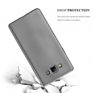 Cadorabo Hülle für Samsung Galaxy A7 2015 in METALLIC GRAU - Handyhülle aus flexiblem TPU Silikon - Silikonhülle Schutzhülle Ultra Slim Soft Back Cover Case Bumper - Vorschau 3