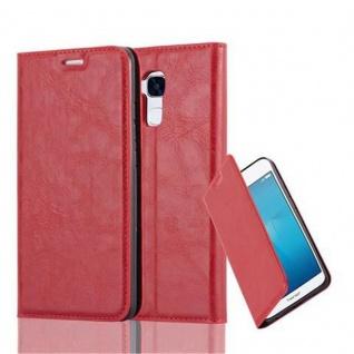 Cadorabo Hülle für Honor 5C in APFEL ROT - Handyhülle mit Magnetverschluss, Standfunktion und Kartenfach - Case Cover Schutzhülle Etui Tasche Book Klapp Style