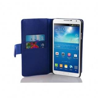 Cadorabo Hülle für Samsung Galaxy NOTE 3 in BRILLANT BLAU ? Handyhülle aus glattem Kunstleder mit Standfunktion und Kartenfach ? Case Cover Schutzhülle Etui Tasche Book Klapp Style