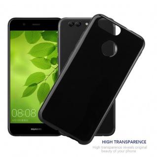 Cadorabo Hülle für Huawei NOVA 2 in SCHWARZ - Handyhülle aus flexiblem TPU Silikon - Silikonhülle Schutzhülle Ultra Slim Soft Back Cover Case Bumper - Vorschau 4