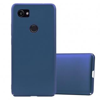 Cadorabo Hülle für Google Pixel 2 XL in METALL BLAU Hardcase Handyhülle aus Plastik gegen Kratzer und Stöße Schutzhülle Bumper Ultra Slim Back Case Hard Cover