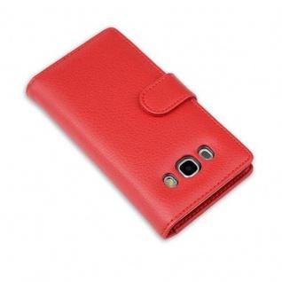 Cadorabo Hülle für Samsung Galaxy J5 2016 in INFERNO ROT - Handyhülle mit Magnetverschluss und 3 Kartenfächern - Case Cover Schutzhülle Etui Tasche Book Klapp Style - Vorschau 4