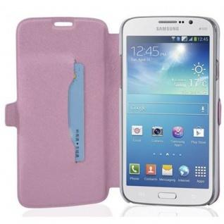 Cadorabo Hülle für Samsung Galaxy MEGA 5.8 - Hülle in ICY ROSE - Handyhülle mit Standfunktion und Kartenfach im Ultra Slim Design - Case Cover Schutzhülle Etui Tasche Book