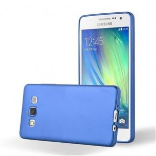 Cadorabo Hülle für Samsung Galaxy A3 2015 in METALLIC BLAU - Handyhülle aus flexiblem TPU Silikon - Silikonhülle Schutzhülle Ultra Slim Soft Back Cover Case Bumper