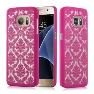 Samsung Galaxy S7 Hardcase Hülle in PINK von Cadorabo - Blumen Paisley Henna Design Schutzhülle ? Handyhülle Bumper Back Case Cover