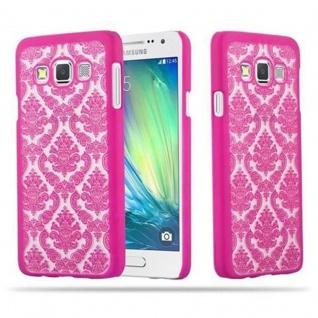 Samsung Galaxy A3 2015 Hardcase Hülle in PINK von Cadorabo - Blumen Paisley Henna Design Schutzhülle ? Handyhülle Bumper Back Case Cover