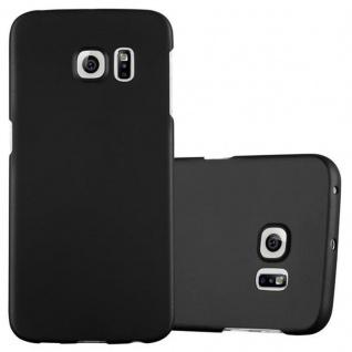 Cadorabo Hülle für Samsung Galaxy S6 EDGE in METALL SCHWARZ - Hardcase Handyhülle aus Plastik gegen Kratzer und Stöße - Schutzhülle Bumper Ultra Slim Back Case Hard Cover