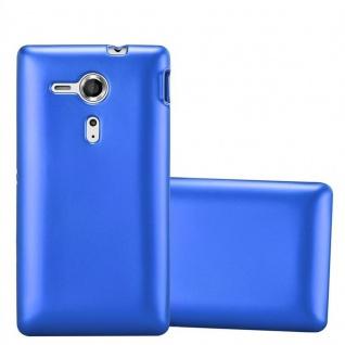 Cadorabo Hülle für Sony Xperia SP in METALLIC BLAU - Handyhülle aus flexiblem TPU Silikon - Silikonhülle Schutzhülle Ultra Slim Soft Back Cover Case Bumper