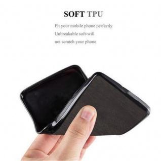 Cadorabo Hülle für Samsung Galaxy J1 2016 in WOODEN SCHWARZ ? Handyhülle aus flexiblem TPU Silikon ? Silikonhülle Schutzhülle Ultra Slim Soft Back Cover Case Bumper - Vorschau 3