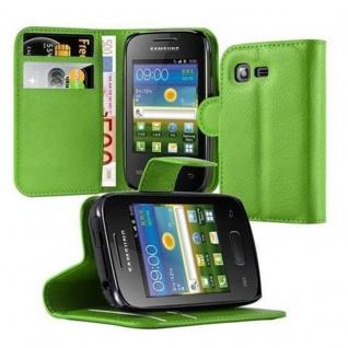 Cadorabo Hülle für Samsung Galaxy POCKET 2 in MINZ GRÜN - Handyhülle mit Magnetverschluss, Standfunktion und Kartenfach - Case Cover Schutzhülle Etui Tasche Book Klapp Style