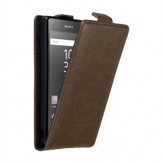 Cadorabo Hülle für Sony Xperia Z5 COMPACT in KAFFEE BRAUN - Handyhülle im Flip Design mit unsichtbarem Magnetverschluss - Case Cover Schutzhülle Etui Tasche Book Klapp Style
