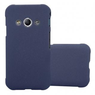 Cadorabo Hülle für Samsung Galaxy XCover 3 in FROSTY BLAU - Hardcase Handyhülle aus Plastik gegen Kratzer und Stöße - Schutzhülle Bumper Ultra Slim Back Case Hard Cover
