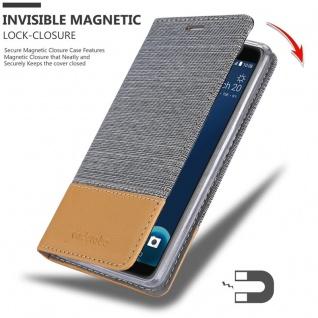Cadorabo Hülle für HTC Desire 12 in HELL GRAU BRAUN - Handyhülle mit Magnetverschluss, Standfunktion und Kartenfach - Case Cover Schutzhülle Etui Tasche Book Klapp Style - Vorschau 3