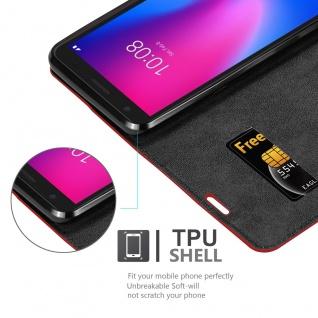 Cadorabo Hülle kompatibel mit ZTE Blade A3 2020 in APFEL ROT Handyhülle mit Magnetverschluss, Standfunktion und Kartenfach Case Cover Schutzhülle Etui Tasche Book Klapp Style - Vorschau 4