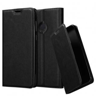 Cadorabo Hülle für Xiaomi Mi Max 3 in NACHT SCHWARZ - Handyhülle mit Magnetverschluss, Standfunktion und Kartenfach - Case Cover Schutzhülle Etui Tasche Book Klapp Style