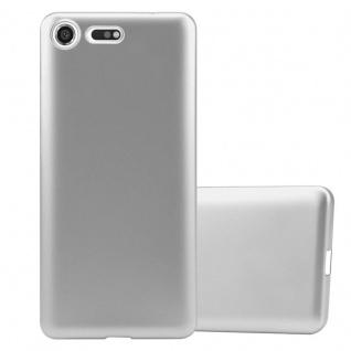 Cadorabo Hülle für Sony Xperia XZ Premium in METALLIC SILBER - Handyhülle aus flexiblem TPU Silikon - Silikonhülle Schutzhülle Ultra Slim Soft Back Cover Case Bumper