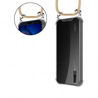 Cadorabo Handy Kette für Huawei P20 in GLÄNZEND BRAUN - Silikon Necklace Umhänge Hülle mit Silber Ringen, Kordel Band Schnur und abnehmbarem Etui - Schutzhülle - Vorschau 5
