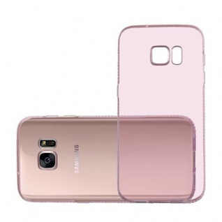 Cadorabo Hülle für Samsung Galaxy S7 - Hülle in TRANSPARENT ROSA ? Handyhülle aus TPU Silikon im Strass Design - Silikonhülle Schutzhülle Ultra Slim Soft Back Cover Case Bumper - Vorschau 4