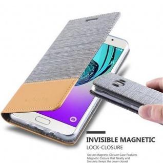Cadorabo Hülle für Samsung Galaxy J5 2016 in HELL GRAU BRAUN - Handyhülle mit Magnetverschluss, Standfunktion und Kartenfach - Case Cover Schutzhülle Etui Tasche Book Klapp Style