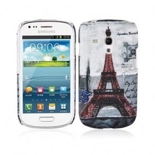 Cadorabo - Hard Cover für Samsung Galaxy S3 MINI - Case Cover Schutzhülle Bumper im Design: PARIS - EIFFELTURM